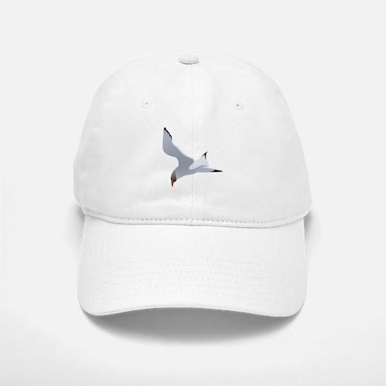 Seagull flying art Baseball Baseball Cap