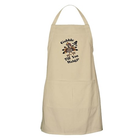 Gobble Wabble Thanksgiving BBQ Apron