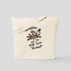 Gobble Wabble Thanksgiving Tote Bag