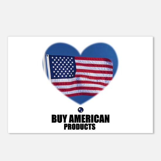 BUY AMERICAN PRODUCTS Postcards (Package of 8)
