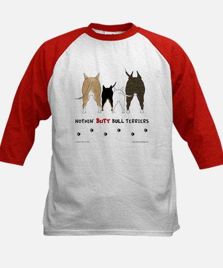 Nothin' Butt Bull Terriers Kids Baseball Jersey