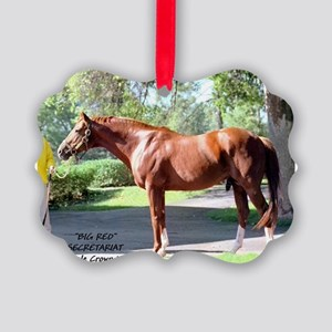 "Secretariat ""Big Red"" Picture Ornament"