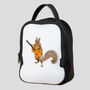Squirrel Acoustic Guitar Neoprene Lunch Bag