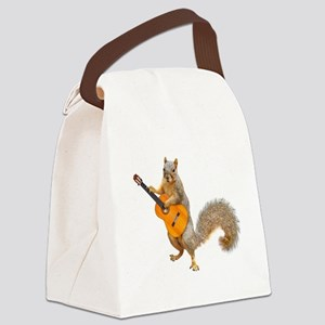 Squirrel Acoustic Guitar Canvas Lunch Bag