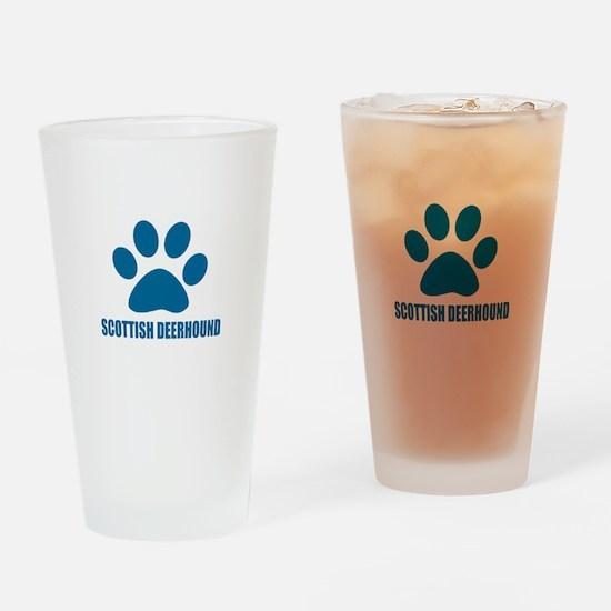 Scottish Deerhound Dog Designs Drinking Glass