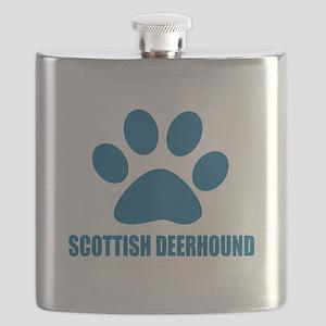 Scottish Deerhound Dog Designs Flask
