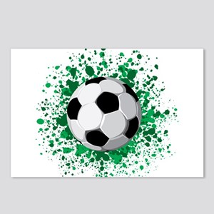 Soccer ball poster Postcards (Package of 8)