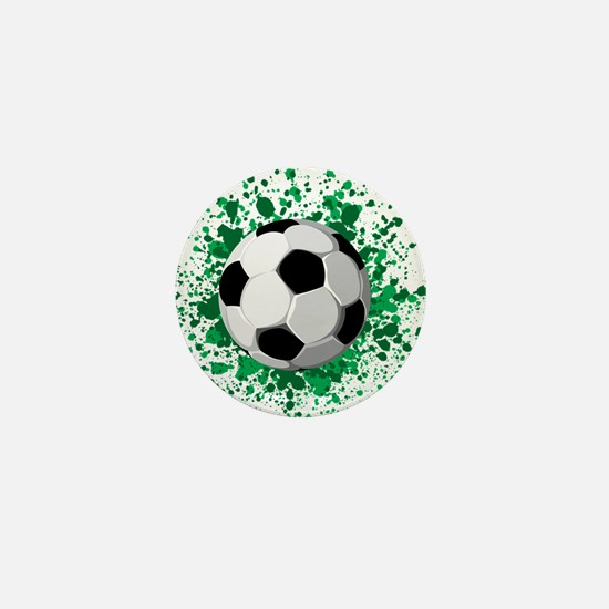 Soccer ball poster Mini Button