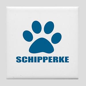 Schipperke Dog Designs Tile Coaster
