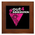 Out4Immigration Framed Tile