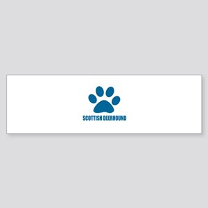 Scottish Deerhound Dog Designs Sticker (Bumper)