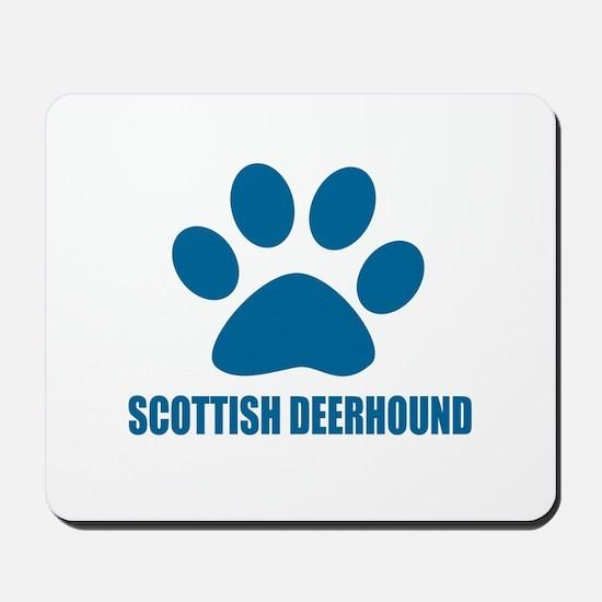 Scottish Deerhound Dog Designs Mousepad