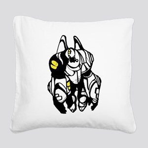 Cartoon fat transformers Square Canvas Pillow