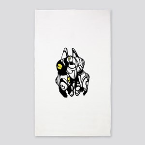 Cartoon fat transformers Area Rug