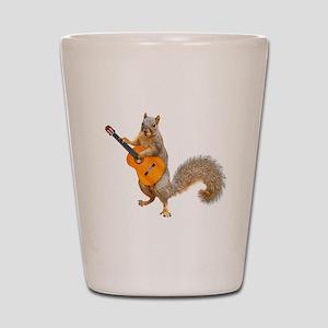 Squirrel Acoustic Guitar Shot Glass