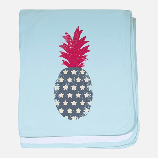 Patriotic Pineapple baby blanket