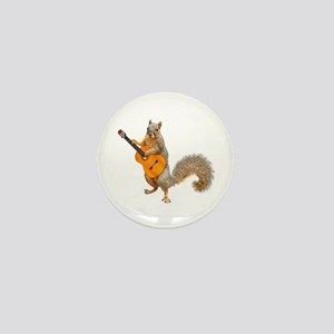 Squirrel Acoustic Guitar Mini Button