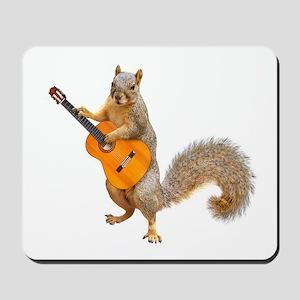 Squirrel Acoustic Guitar Mousepad