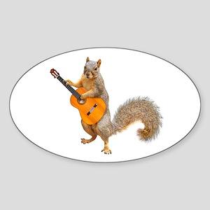 Squirrel Acoustic Guitar Sticker