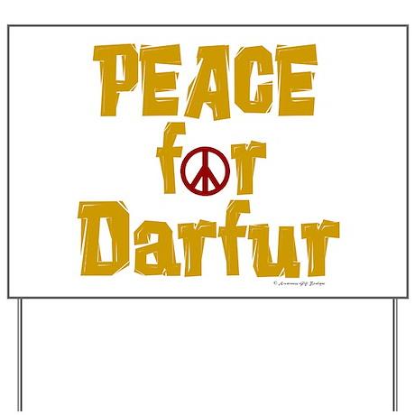 Peace For Darfur 1.5 Yard Sign