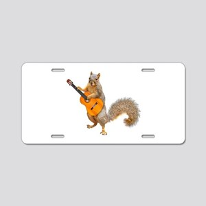 Squirrel Acoustic Guitar Aluminum License Plate