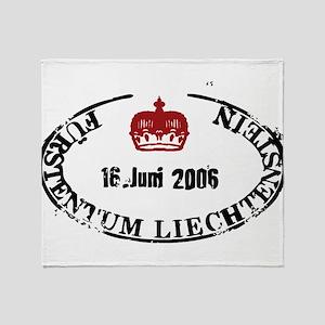 Furstentum liechtenstein stamp Throw Blanket