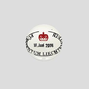 Furstentum liechtenstein stamp Mini Button