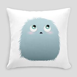 Grey fluffy ball Everyday Pillow