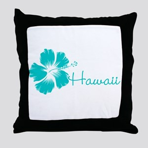 Blue Hawaii Throw Pillow