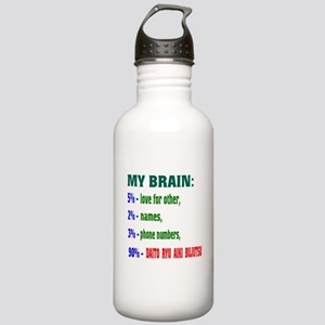 My Brain, 90% For Dait Stainless Water Bottle 1.0L