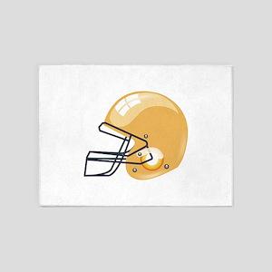 American yellow football gridiron h 5'x7'Area Rug