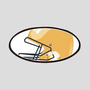American yellow football gridiron helmet Patch