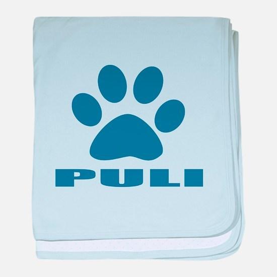 Puli Dog Designs baby blanket