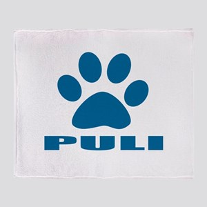 Puli Dog Designs Throw Blanket