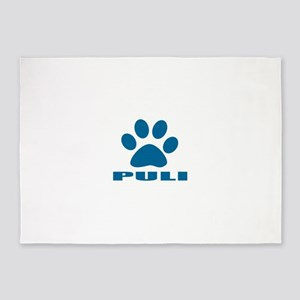 Puli Dog Designs 5'x7'Area Rug
