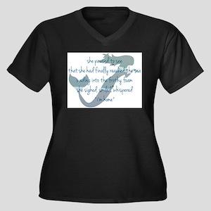 Mermaid Watercolor Plus Size T-Shirt