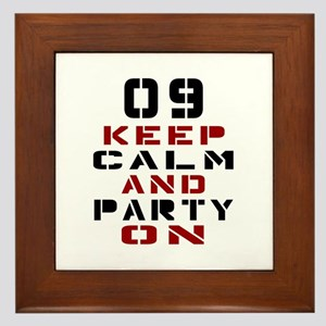 9 Keep Calm And Party On Framed Tile