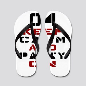 4 Keep Calm And Party On Flip Flops