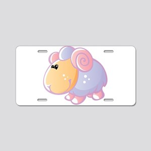 Colorful sheep cartoon Aluminum License Plate