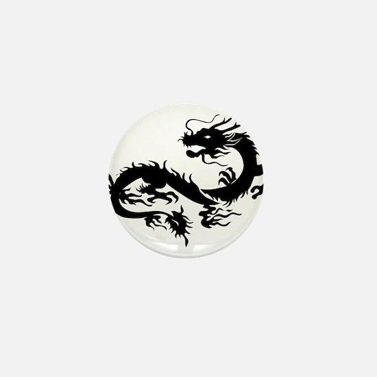 Chinese dragon art Mini Button