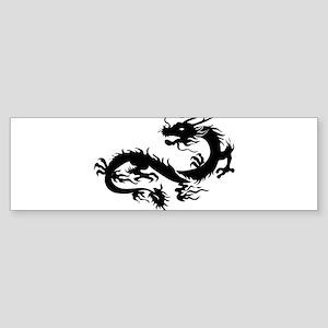 Chinese dragon art Bumper Sticker