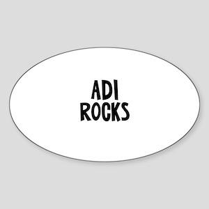 Adi Rocks Oval Sticker