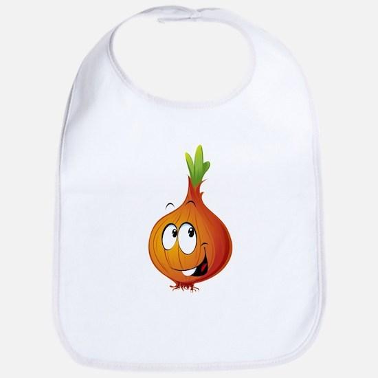 Orange onion smiling Bib