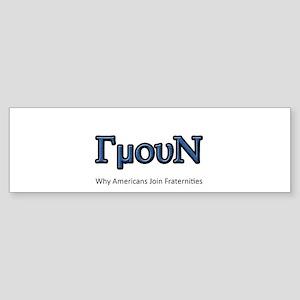 FraternityReasons Bumper Sticker