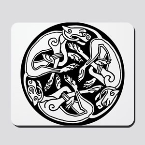 Tattoo Celtic round dogs clip art Mousepad