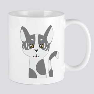 Black and white cat face Mugs
