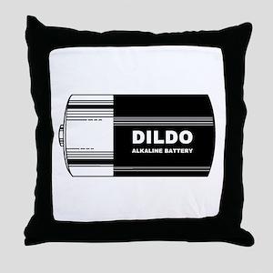 DILDO BATTERY - PARODY! Throw Pillow