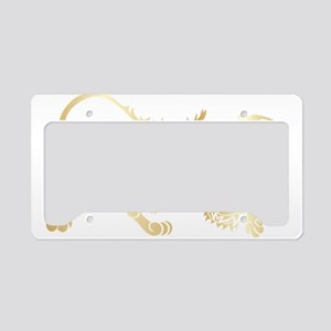 Golden lion classical pattern License Plate Holder