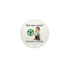 Recycled rocks! Mini Button (10 pack)