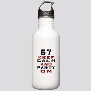 67 Keep Calm And Party Stainless Water Bottle 1.0L